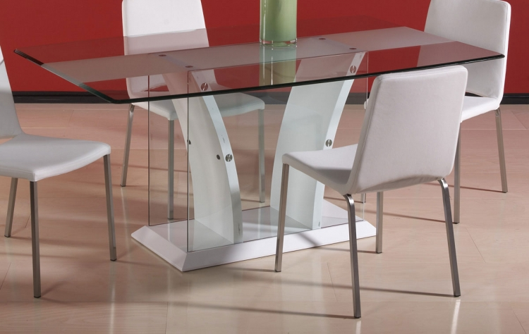 Flair White Dining Table - Chintaly Imports