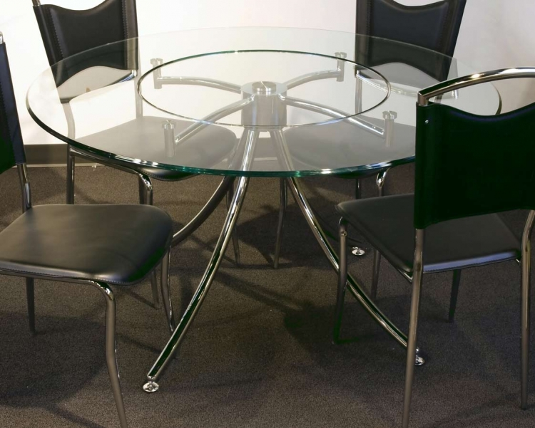 Gwen Dining Table with Glass Top