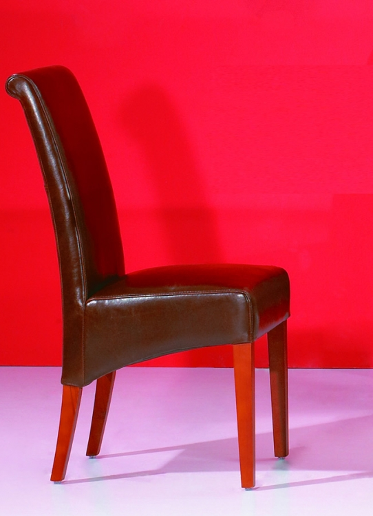 Helen Leather Parson Side Chair