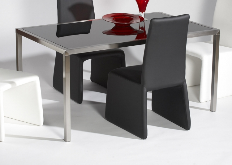 Hilary Contemporary Glass Top Table