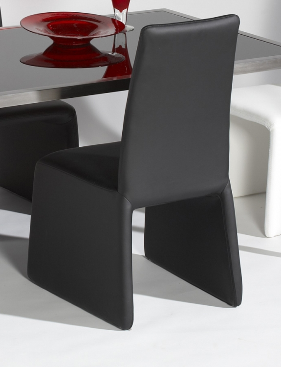 Hilary Black Upside U Shape Base Parson Chair - Chintaly Imports