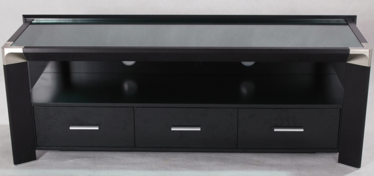 Isabella Large TV Stand - Black - Chintaly Imports