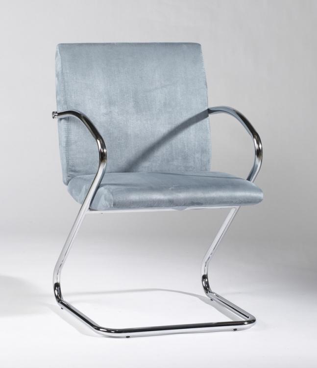 Jasmine Blue Upholstered Back Arm Chair
