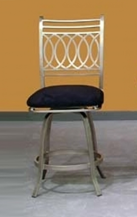Julia Bar Height Memory Swivel Stool - Chintaly Imports