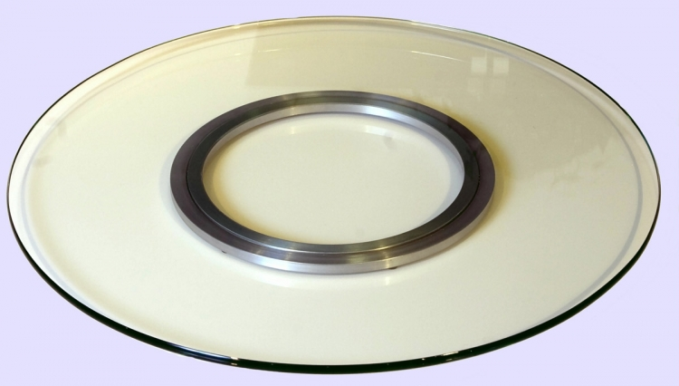 Round Glass Spinning Tray - Chintaly Imports