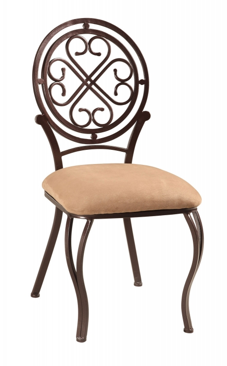 Lily Traditional Swivel Side Chair - Hammered Brown