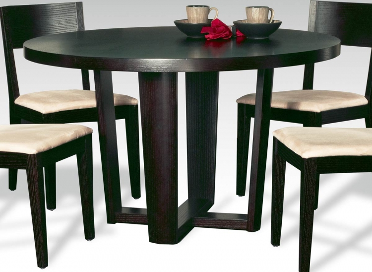 Lorie Round Table with Wood Top