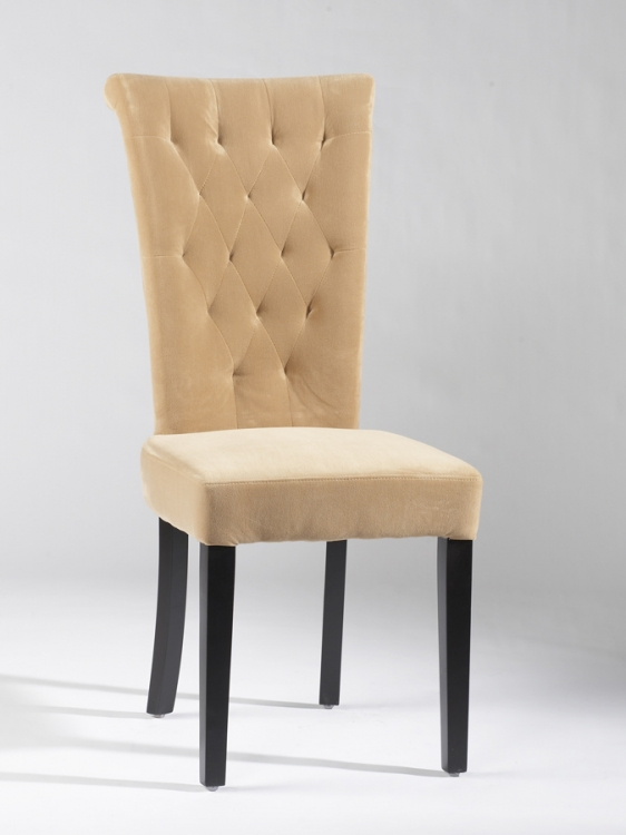 Lorie Tufted Back Upholstered Chair - Beige