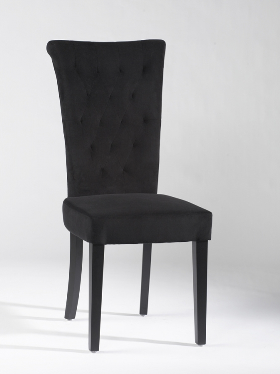 Lorie Tufted Back Upholstered Chair - Black