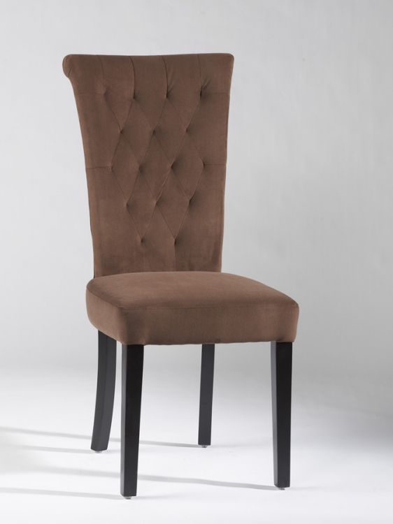 Lorie Tufted Back Upholstered Chair - Brown