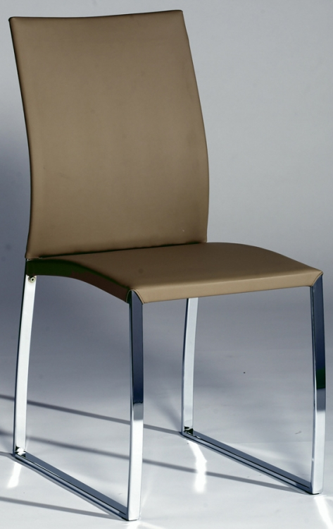 Marcy Contemporary Upholstered Back Side Chair - Biege