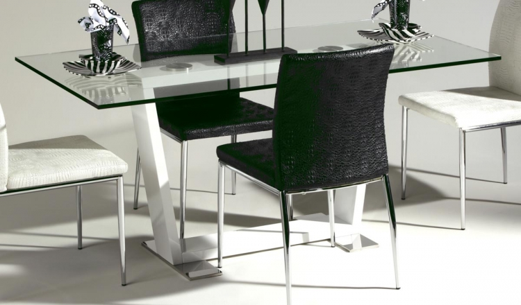 Megan Glass Top Dining Table