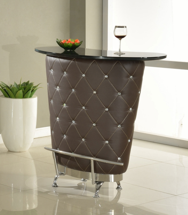 Nolita Modern Home Bar Table - Brown
