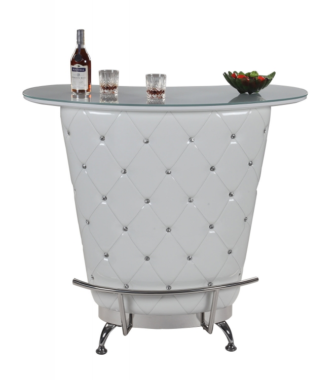 Nolita Modern Home Bar Table - White