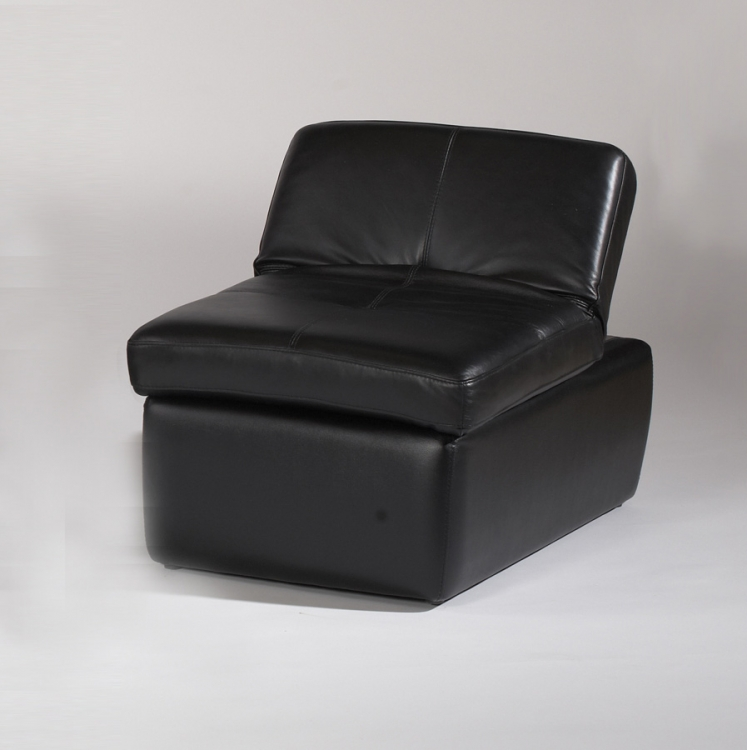 Sonoma Cocktail Ottoman Adjusts to Occasional Chair - Black - Chintaly Imports
