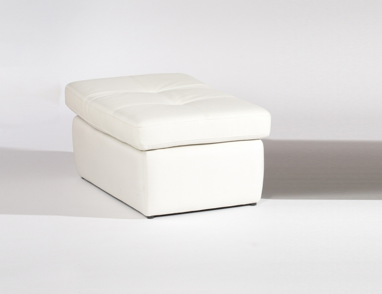 Sonoma Cocktail Ottoman Adjusts to Occasional Chair - White