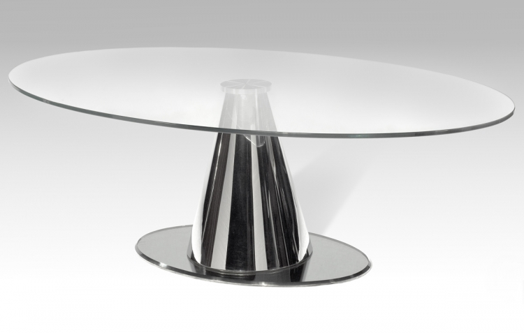 Tamara Oval Cocktail Table - Chintaly Imports