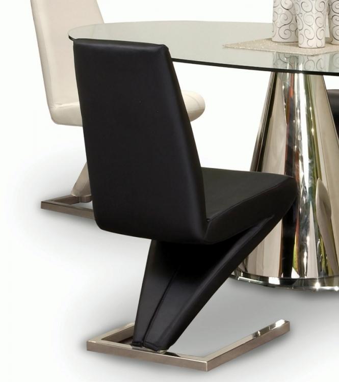 Tamara Z Frame Upholstered Side Chair - Black