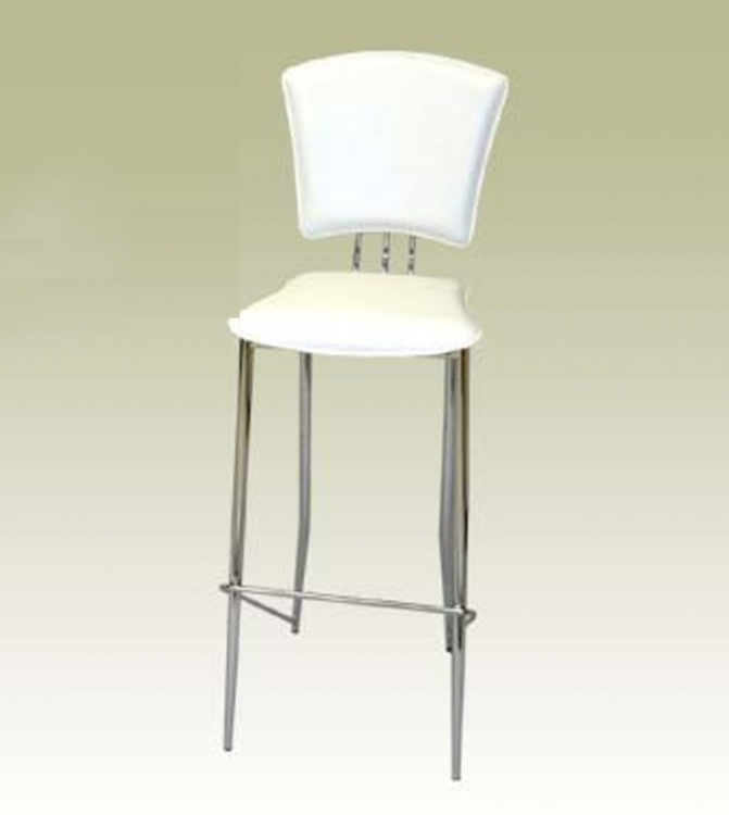 Tracy White Counter Stool - Chintaly Imports