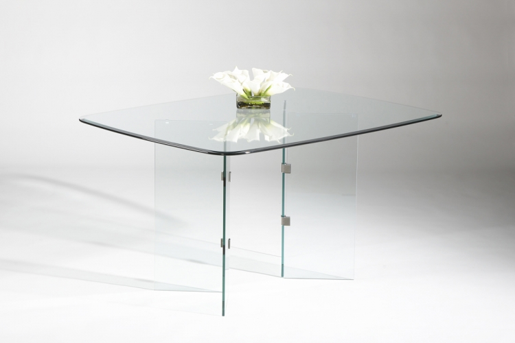 VBase Dining Table Chrome