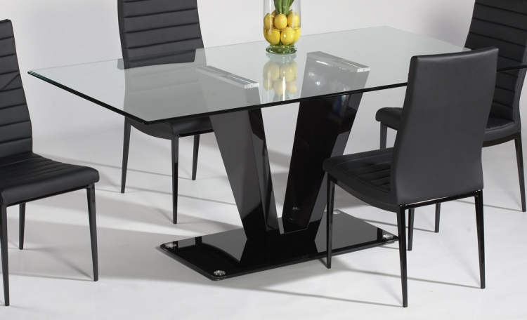 Victoria Dining Table with Glass Top