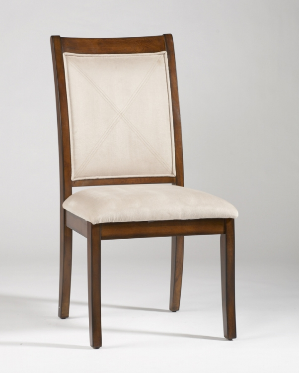 Wilma Solid Wood Frame Upholstered Back Chair - Beige