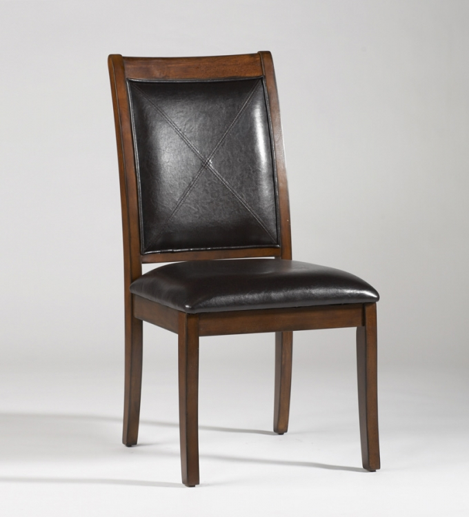 Wilma Solid Wood Frame Upholstered Back Chair - Dark Brown