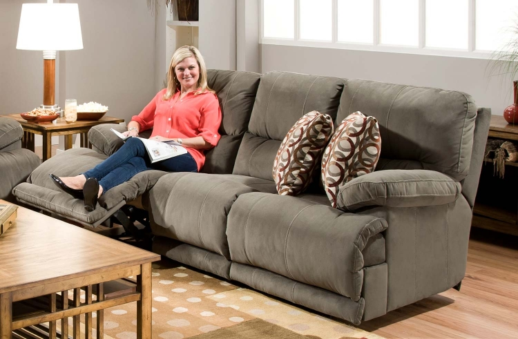 Riley Power Reclining Sofa - Charcoal
