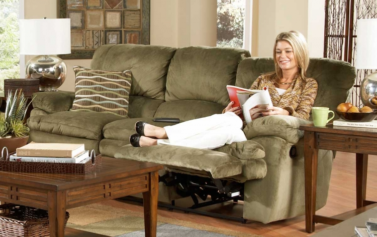 Easton Dual Reclining Sofa - Sage - Catnapper