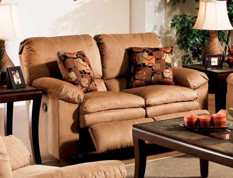 Impulse Reclining Loveseat - Cafe