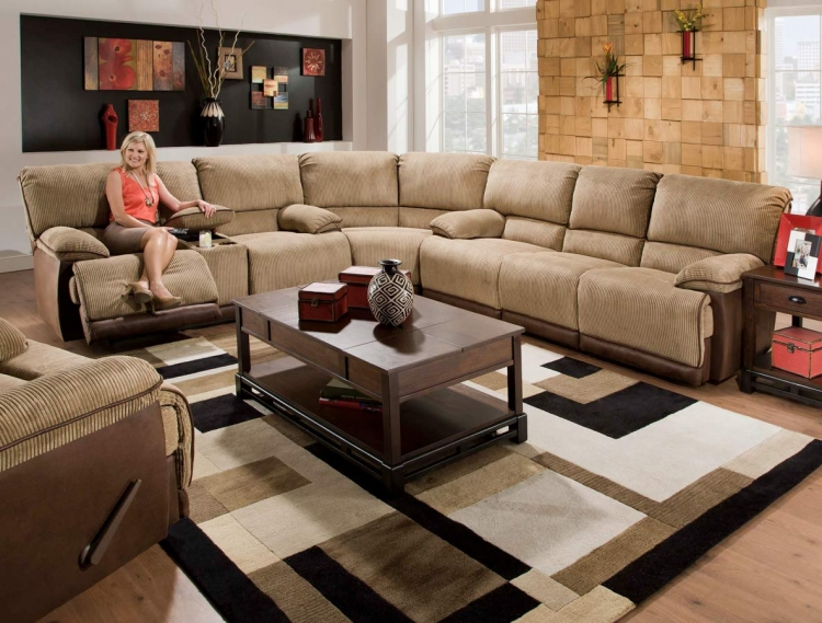 Clayton Power Sectional Sofa Set - Camel - Catnapper