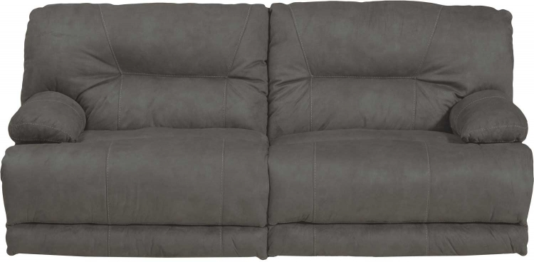 Noble Power Lay Flat Reclining Sofa - Slate
