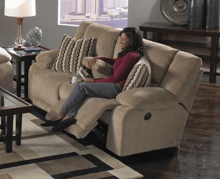 Hammond Power Reclining Console Loveseat with Storage and Cupholders - Coffee