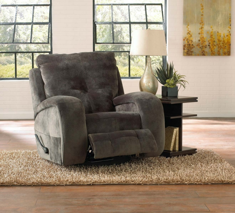 Felton Swivel Glider Recliner - Charcoal - Catnapper