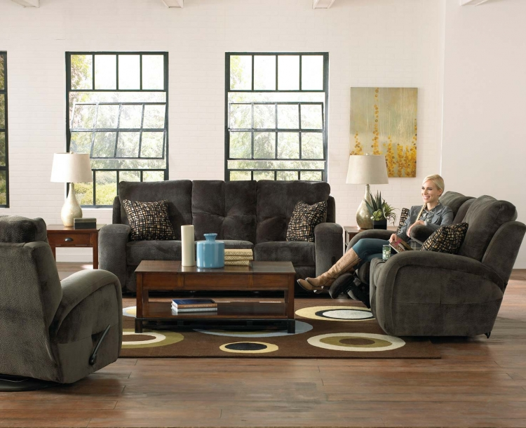 Felton Power Reclining Sofa Set - Charcoal - Catnapper