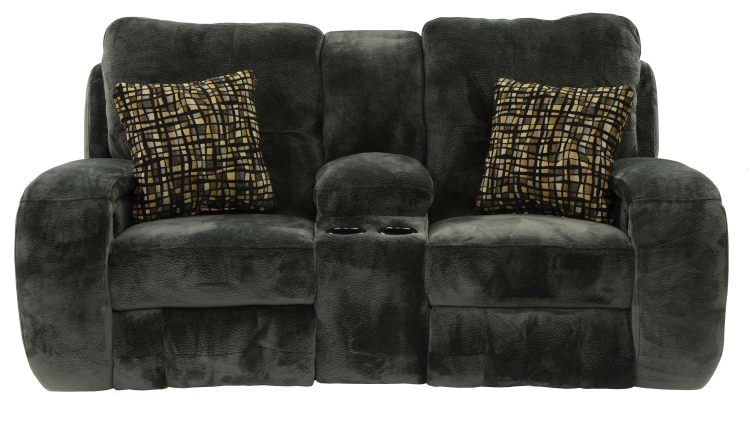 Felton Power Reclining Console Loveseat - Charcoal - Catnapper