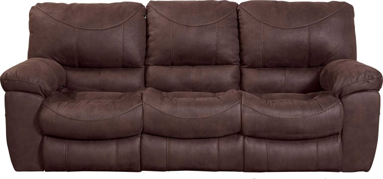 Terrance Power Reclining Sofa - Chocolate