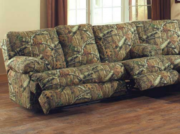 Wintergreen Reclining Sofa   Mossy Oak Infinity
