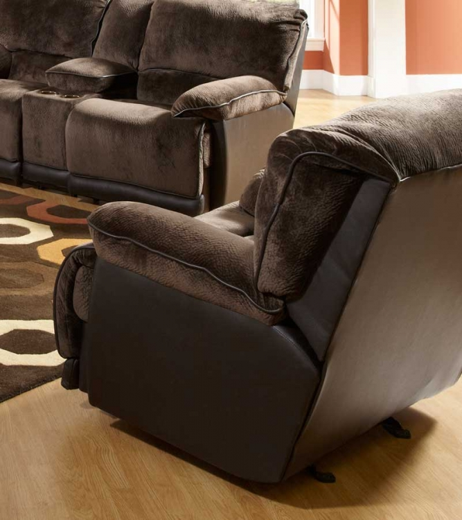 Escalade Chaise Glider Recliner - Chocolate - Catnapper