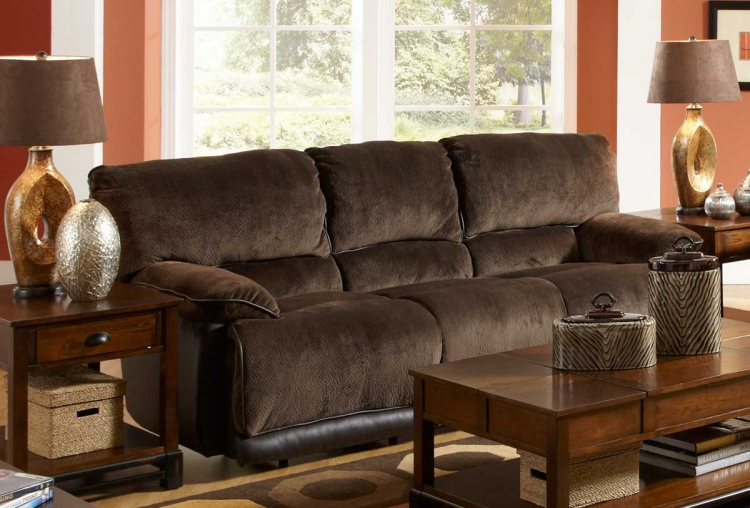 Escalade Dual Reclining Sofa - Chocolate - Catnapper
