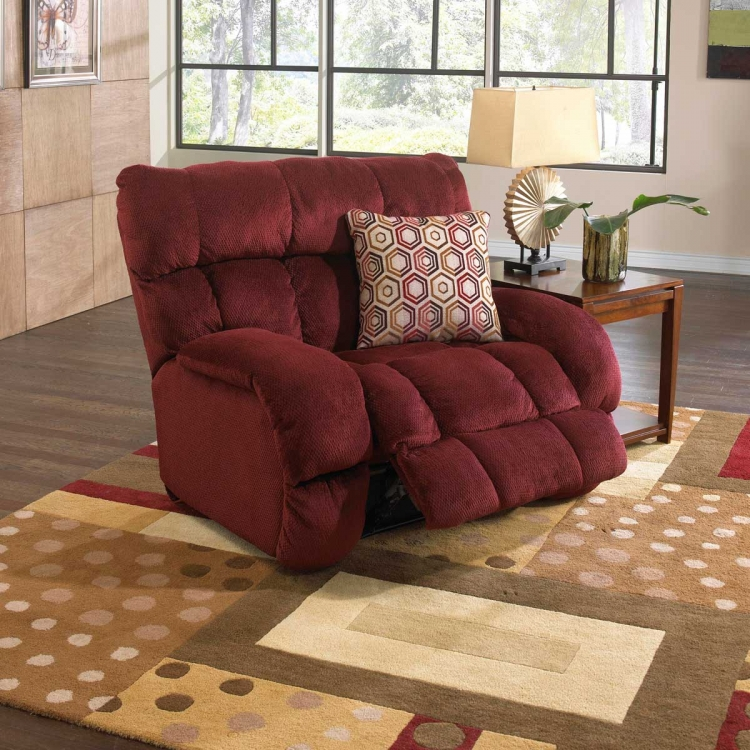 Siesta Lay Flat Recliner - Wine