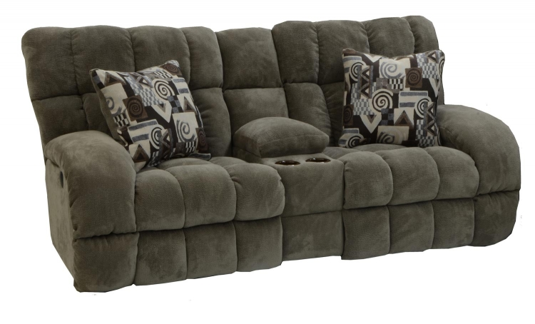 Siesta Lay Flat Reclining Console Loveseat with Storage and Cupholders - Porcini