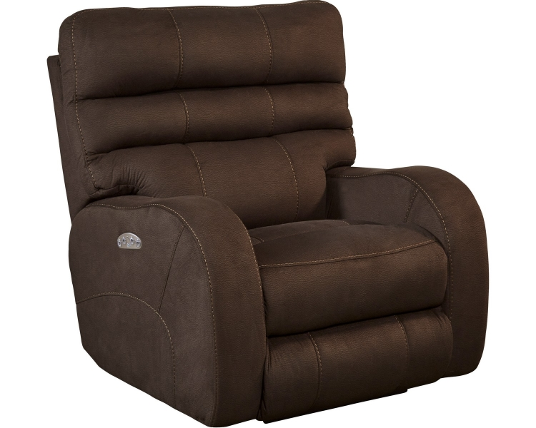 Kelsey Power Headrest Power Lay Flat Recliner - Walnut