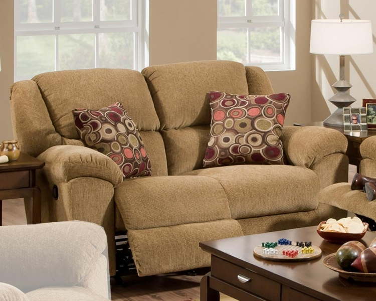 Transformer Rocking Reclining Loveseat - Beige