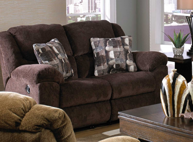 Transformer Rocking Reclining Loveseat - Chocolate