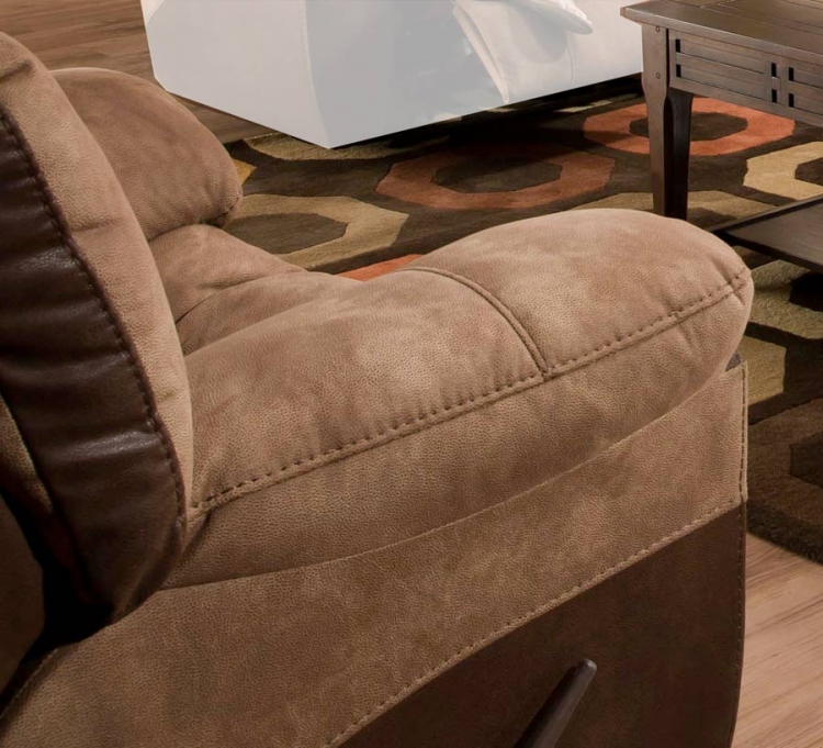 CatNapper Portman Chaise Rocker Recliner - Saddle-Chocolate