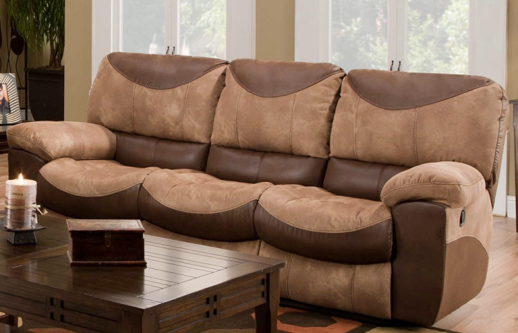 Portman Power Reclining Sofa - Saddle-Chocolate