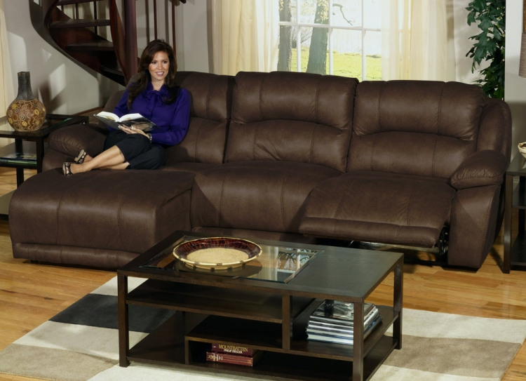 Compass Customizable Sofa Sectional Set 1 - Espresso - Catnapper