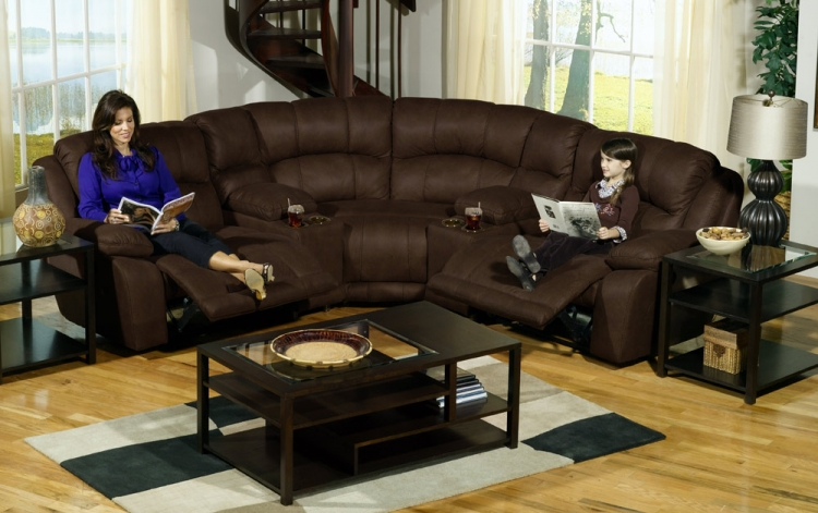Compass Customizable Sofa Sectional Set 2 - Espresso - Catnapper