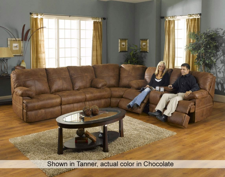 Ranger Sectional - Chocolate - CatNapper